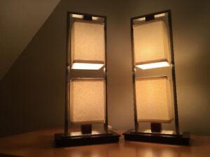 Lampes de table (2) de la compagnie québécoise Création Nova