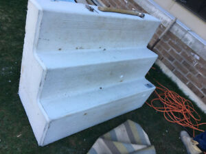 1 year old concrete stairs
