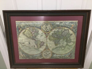 Old world framed map