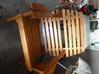 solid pine, hand crafted muskoka chair