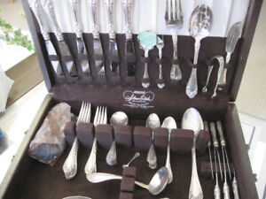 Stirling Silver Cutlery Set with Box - 60 pieces