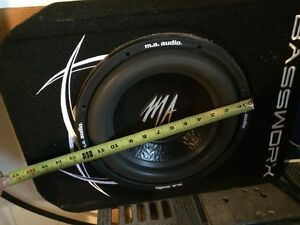 "12"" woofer and PG amp and box.  Phoenix Gold."