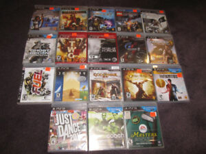 PS3 Games A - New in sealed boxes (some store-opened) -See List