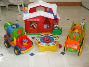 Farm House, Tractor, Construction vehicle