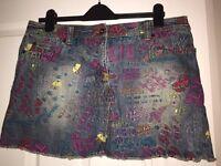 Boxfresh denim mini skirt