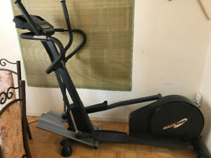 Elliptical with heavy steel plate