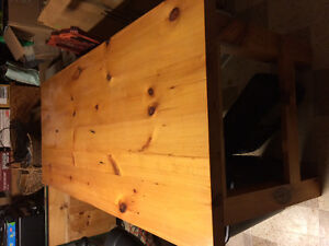 Open red pine desk (old pine)