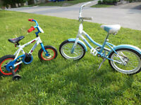 small 1 w/ training wheels other 16'' wheels