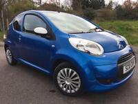 2010 10 CITROEN C1 1.0 SPLASH 3D 68 BHP BLUE METALLIC, GENUINE 101K