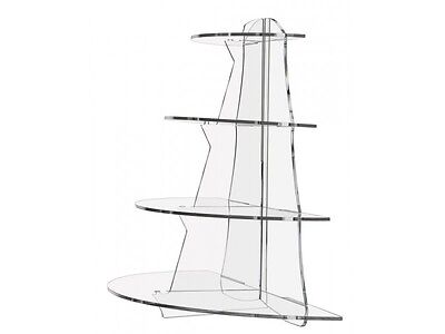 4 Tier Half Shelf Counter Top Acrylic Stand Display Riser Bakery Retail Use