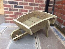 Hand made wooden wheelbarrow Garden planters