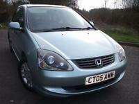 2005 05 HONDA CIVIC 1.6 EXECUTIVE I-VTEC 5D AUTO 110 BHP **LOVELY EXAMPLE**CALL