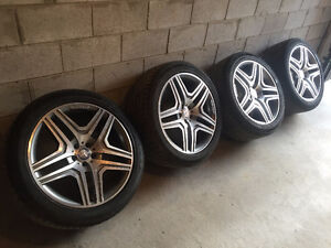 21' AMG MERCEDES-BENZ RIMS WITH 295/40/21 CONTINENTAL TIRES
