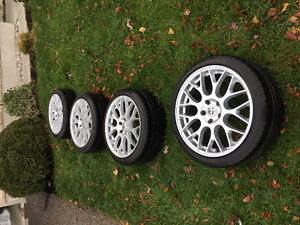 Set of 18 inch replica wheels and tires 5 x 112 fits most VW Oakville / Halton Region Toronto (GTA) image 2