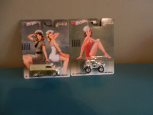 Hot Wheels 1:64 Nose Art Lot of 2 '67 Bronco,Dairy Delivery