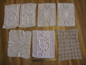 13 Assorted Rectangle Doilies - great for vintage wedding decor.