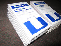 10 Rediform Sales Books Carbonless 3-5/8 inch x 6-3/8 inch, 50ct