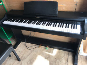 Technics Digital Piano, Bench, and Beginner level books
