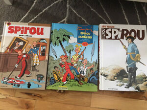 3 X Albums Spirou NEUF 1, 269, 280 et 308 et 5 X jeux et gags