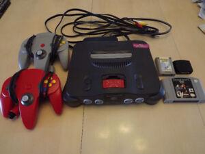 Nintendo 64 avec jeux starcraft