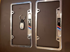 BMW M3 plate frames and keychain