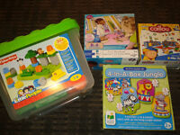 Various of blocks, puzzles and DVDs