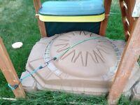 Sandbox with lid and sand