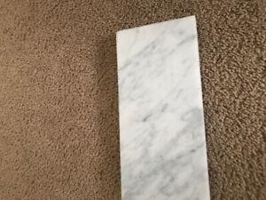 36 Inch Solid Marble Vanity Backsplash