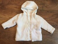 White knitted cardigan 3-6 months