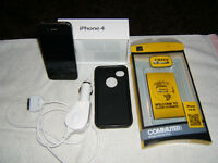 IPhone 4 with Otter case and car charger
