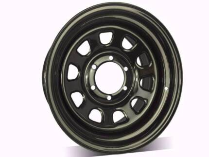 """4x4 Sunraysia rims steel wheels trailer wheels 13"""" TO 17"""" From$50"""
