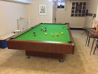 Large pool table 10.5'x 5.5'