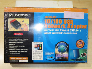 LINKSYS - 10/100 - USB NETWORK ADAPTER - NEW - SEALED IN BOX