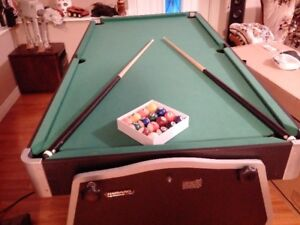 3 in 1 Pool Table, Air Hockey, and Ping Pong Table.