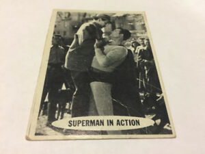 SUPERMAN trading card #19 Topps 1965 DC Comics TV George Reeves