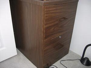 Wood grain 2 drawer filing cabinet