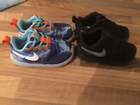 2 pair Nike trainers size 6c