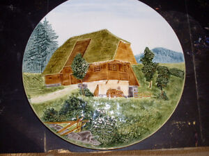 Vintage Made in Germany 3d Cottage Scene Wall Plate Edmonton Edmonton Area image 2
