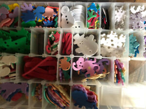 Plastic Storage Container with felt pieces