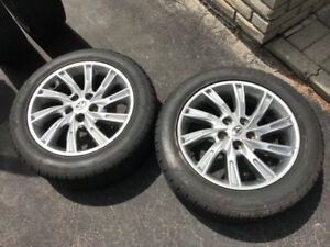 215 55 17 nearly new tires on Toyota Camry 17'' alloy rims