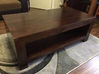 Solid chunky Rosewood coffee table