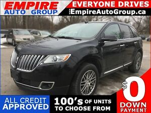 2012 LINCOLN MKX AWD * LEATHER * SUNROOF * REAR CAM * NAV * BLUE