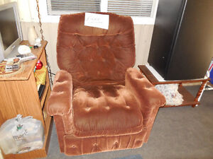 Brown lazy-boy chair