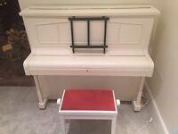 Cream Piano With Stool
