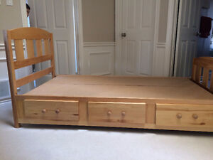 Captains Bed, Twin Size, Solid Maple
