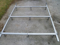 Queen Bed Frame With Wheels EXCELLENT SHAPE