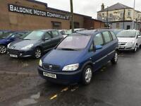 2002 Vauxhall Zafira 1.6 i 16v Comfort 5dr (a/c)