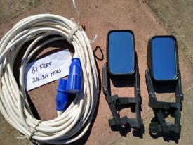 Caravan mains eletric cable