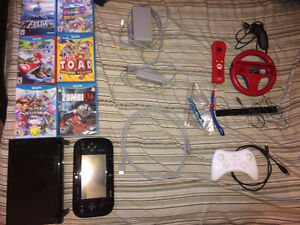 32 GB Wii U console with 6 Games (incl. BotW) and Pro Controller