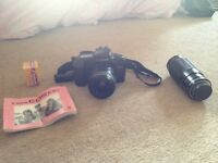 Canon EOS 100 with lens and film